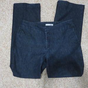 Chico's Platinum Wider Leg Dark Jeans 1.5 or 10